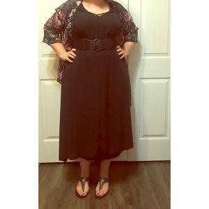 • Little Black Flowy Dress •